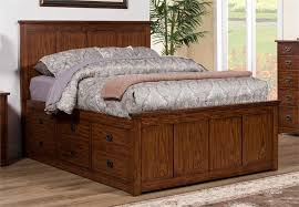 Storage Beds Queen Size With Drawers Colorado Medium Oak Queen Size Storage Bed By Winners Only