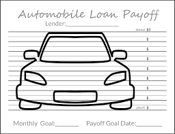 Auto Loan Spreadsheet Tracking Your Debt Goals Free Printable Financial Planning And