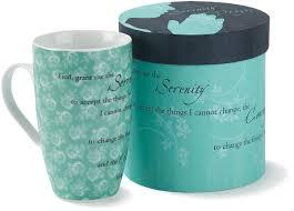 serenity prayer mug porcelain mug teal black serenity prayer serenity