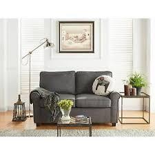 ebay sofa mainstays sofa sleeper with memory foam mattress grey ebay