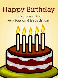 chocolate birthday cake card birthday greeting cards by davia