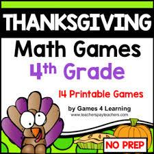 Fun Activities For Thanksgiving Thanksgiving Math Games Fourth Grade Fun Thanksgiving Activities