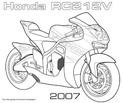 gp honda rc2 12v coloring page transportation free printable