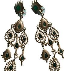blue chandelier earrings kendra green and blue onyx rollins chandelier earrings tradesy