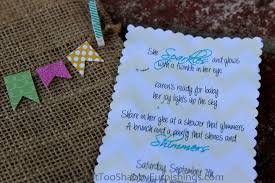 burlap baby shower invitations knot too shabby furnishings