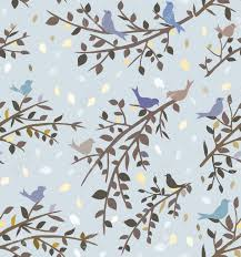 wallpaper with birds seamless background or wallpaper with birds and branches royalty