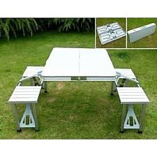 portable folding picnic table aluminium portable folding picnic table chairs set with umbrella
