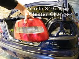 volvo s60 tail light assembly volvo s40 rear tail light cluster change youtube