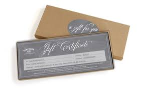 custom gift certificates gift certificates evermine