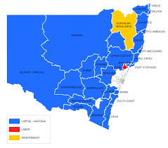 2016 Electoral Map Pre by Nsw State Election 2011 Nsw Electoral Commission