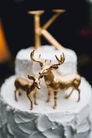 buck and doe cake topper metallic gold deer cake topper buck and doe pair