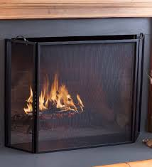 classic tri fold flat guard fire screen 50