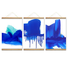 cool blue colors decoration wall pictures hanging canvas