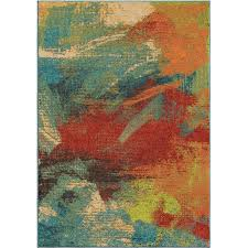 Abstract Area Rugs Orian Rugs Bright Opulence Abstract Multi Colored Area Rug