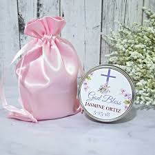 christening party favors girl baptism candle favors baptism favors baptism party favors