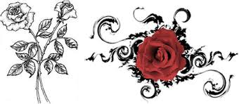 trend tattoo styles another simple design of rose tattoo