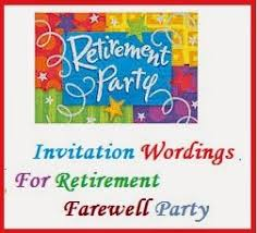 Party Invitation Wording Sample Invitation Wordings Retirement