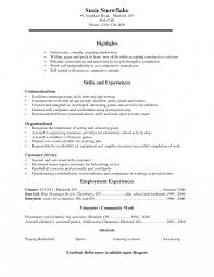 resume for high students templates for powerpoint resume highlights skills and experiences for high student
