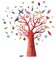 poem tree wall sticker djeco decoration and furniture