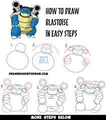 coloring pages draw blastoise howtodraw stepbystep