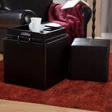 Leather Ottoman Tray by Large Ottoman Tray Large Rectangular Tray For Ottoman Black
