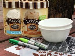 Personalized Ice Cream Bowl Diy Dessert Bowls And Celebrate Togetherness With Edy U0027s Ice Cream