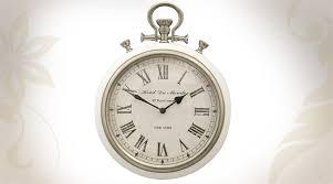 Horloge Murale Ronde Blanche Avec Horloge Murale Ronde De Style Vintage Coloris Blanc