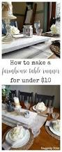 Farmhouse Table Runner Under 10 Farmhouse Table Runner With Ikea Tea Towels Raggedy Bits