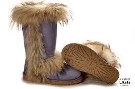 ugg slippers sale ansley ugg slippers coquette chestnut fox fur ugg boots purple fox fur