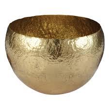 decorative fruit bowl gold hammered brass bowl large