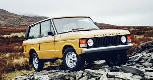 matte gold range rover land rover now restores 1970s range rovers wired
