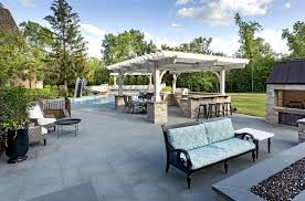 Firepit Outdoor Pergola Outdoor Kitchen Ipe Decking And Linear Pit