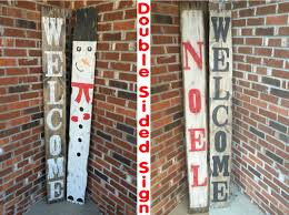 Outdoor Christmas Ornaments Snowman Christmas Ornaments Winter Decore Christmas Wood Sign