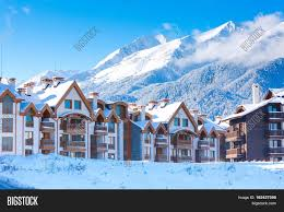 wooden chalet houses snow image u0026 photo bigstock