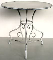 round metal side table distressed cream round metal side table outdoor furniture outdoor