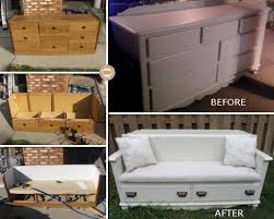 Upcycled Drawer Pet Bed Diy by Upcycled Dresser To Bench Diy Easy Instructions Drawers