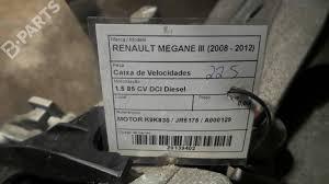 manual gearbox renault megane iii hatchback bz0 1 5 dci 20291