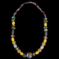 large bead necklace images Viking beads jelling dragon jpg