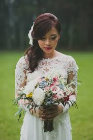 wedding dress bandung rustic pine forest wedding by bridestory