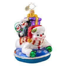 christopher radko ornaments 2014 radko snowman ornament snowday