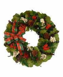 18 inch winter wreath eucalyptus and german