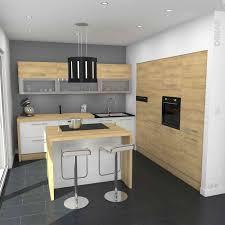 photo cuisine blanche ilot central bar cuisine cuisine blanche et bois design et de 2018
