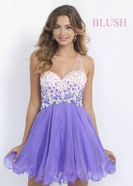 blush prom 10052 violet ombre one shoulder short dress