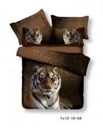 Tiger Comforter Set Animal Print Bedding Queen Foter