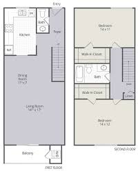 two bedroom townhouse floor plan 2 u0026 3 bedroom townhomes and 1 u0026 3 bedroom apartments in