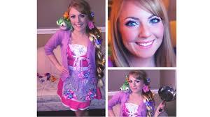 tangled rapunzel halloween makeup hair u0026 costume youtube