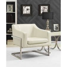 Contemporary Accent Chair Coaster Contemporary Accent Chair With Metal Frame In White 902539