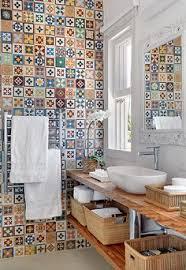 Colorful Bathroom Tile Blue And White Tile Bathroom Halcyon House Cabarita Beach