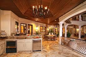 Italian Backyard Design by Massive Italian Villa Style Open Layout Kitchen Living Room Dining