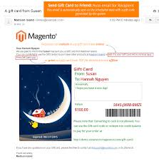 send gift cards by email magento designed like s gift card by magestoreteam codecanyon